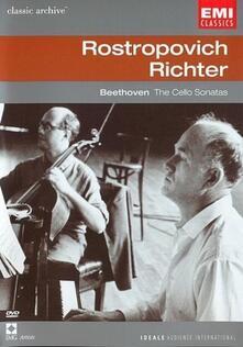 Mstislav Rostropovich, Sviatoslav Richter. Beethoven. The Cello Sonatas (DVD) - DVD