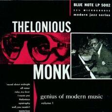 CD Genius of Modern Music vol.1 (Rudy Van Gelder) Thelonious Monk