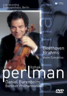 Concerti per violino (DVD) - DVD di Ludwig van Beethoven,Johannes Brahms,Itzhak Perlman,Berliner Philharmoniker,Daniel Barenboim