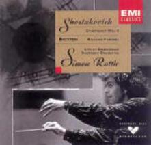 Sinfonia n.4 / Russian Funeral - CD Audio di Benjamin Britten,Dmitri Shostakovich