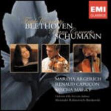 Triplo concerto / Concerto per pianoforte - CD Audio di Ludwig van Beethoven,Robert Schumann,Martha Argerich,Renaud Capuçon,Mischa Maisky