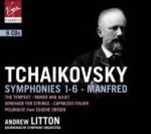 Sinfonie complete - Sinfonia Manfred - CD Audio di Pyotr Ilyich Tchaikovsky,Andrew Litton