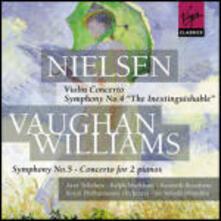 Concerto per violino / Sinfonia n.5 - CD Audio di Ralph Vaughan Williams,Carl August Nielsen