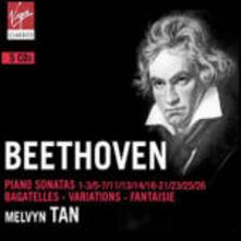 Sonate per pianoforte n.1, n.2, n.3, n.5, n.6, n.7, n.25, n.16, n.17, n.18, n.19, n.20, n.11, n.13, n.14, n.26, n.21, n.23 - CD Audio di Ludwig van Beethoven,Melvyn Tan