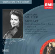 Concerti per violino n.1, n.2, n.4 - Adagio K261 - CD Audio di Wolfgang Amadeus Mozart,Anne-Sophie Mutter,Neville Marriner,Riccardo Muti,Philharmonia Orchestra,Academy of St. Martin in the Fields