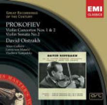 Concerti per violino n.1, n.2 (Serie Original) - CD Audio di Sergej Sergeevic Prokofiev,David Oistrakh,London Symphony Orchestra,Philharmonia Orchestra,Lovro Von Matacic,Alceo Galliera