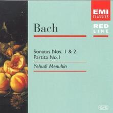 Sonate per Violino n.1, n.2 - Partita per Violino n.1 - CD Audio di Johann Sebastian Bach,Yehudi Menuhin