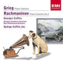 Concerto per pianoforte / Concerto per pianoforte n.2 - CD Audio di Edvard Grieg,Sergej Vasilevich Rachmaninov,New Philharmonia Orchestra,Budapest Symphony Orchestra,György Cziffra