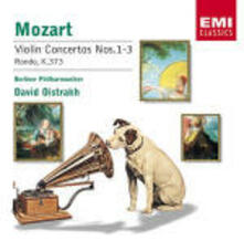 Concerti per violino n.1, n.2, n.3 - Rondò K373 - CD Audio di Wolfgang Amadeus Mozart,Berliner Philharmoniker,David Oistrakh