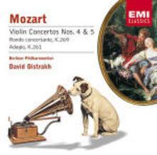 Concerti per violino n.4, n.5 - Rondò concertante K269 - Rondò K373 - Adagio K261 - CD Audio di Wolfgang Amadeus Mozart,Berliner Philharmoniker,David Oistrakh