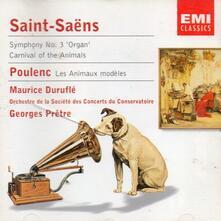 Sinfonia n.3 - Il Carnevale degli animali (Le Carnaval des animaux) / Les animaux modèles - CD Audio di Francis Poulenc,Camille Saint-Saëns,Georges Prêtre