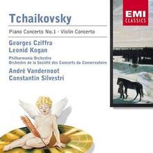 Concerto per pianoforte n.1 - Concerto per violino - CD Audio di Pyotr Ilyich Tchaikovsky,György Cziffra,Leonid Kogan