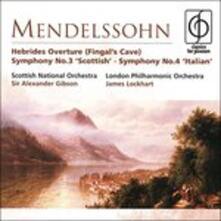 Sinfonie n.3, n.4 - CD Audio di Felix Mendelssohn-Bartholdy,Sir Alexander Gibson