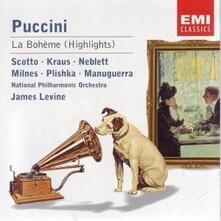 La Bohème (Selezione) - CD Audio di Giacomo Puccini,James Levine,Renata Scotto,Alfredo Kraus,National Philharmonic Orchestra