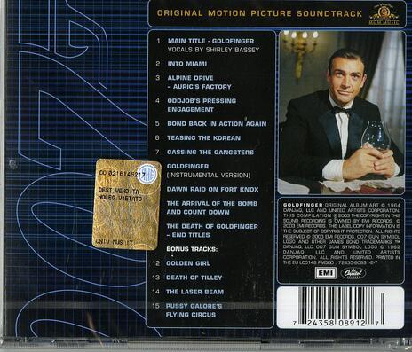 Goldfinger (Colonna sonora) - CD Audio di John Barry - 2