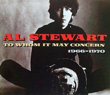 To Whom it May Con - CD Audio di Al Stewart