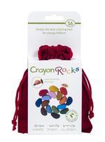 Crayon Rocks 16 pietre colorate in un sacchetto di velluto