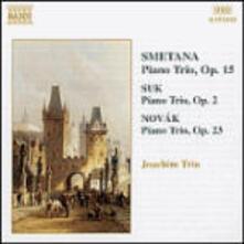 Trio op.15 / Trio con pianoforte op.2 - Elegia op.23 / Trio quasi una ballata op.27 - CD Audio di Bedrich Smetana,Josef Suk,Vitezslav Novak