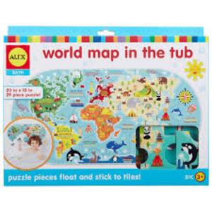Alex Toys. Giochi per il Bagnetto. Mappa del Mondo