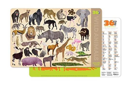 Tovaglietta. 36 Aniamli selvaggi