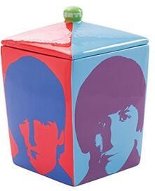 Beatles Color Bar Biscottiera In Ceramica