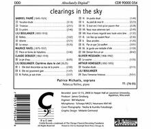 Clearings in the Sky - CD Audio