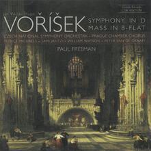 Sinfonia in Re Maggiore, Messa in Si Bemolle Maggiore - CD Audio di Jan Vaclav Hugo Vorisek,Paul Freeman