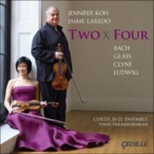 Concerto per 2 violini BWV1043 / Two x Four - CD Audio di Johann Sebastian Bach,Philip Glass