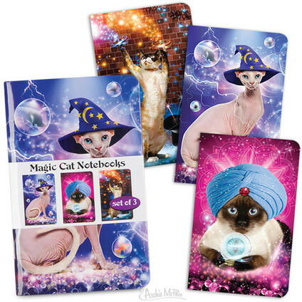 Magic Cats Notebook 3Pk