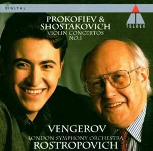 Concerti per violino - CD Audio di Sergej Sergeevic Prokofiev,Dmitri Shostakovich,Mstislav Rostropovich,Maxim Vengerov,London Symphony Orchestra