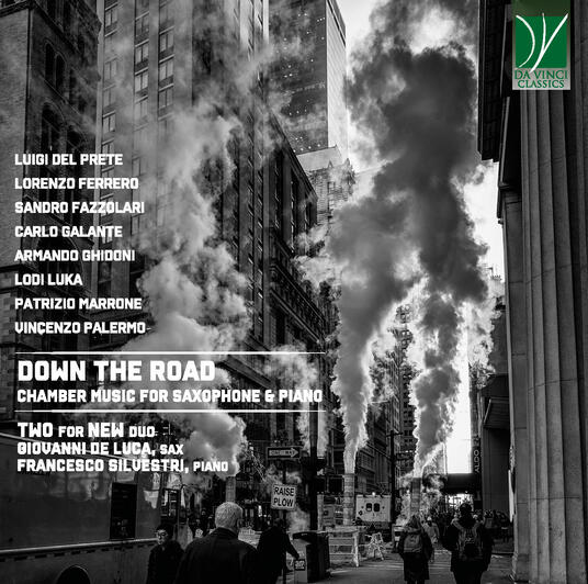 Down the Road. Chamber Music for Saxophone and Piano - CD Audio di Two for New Duo