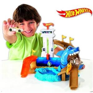 Hot Wheels. Playset squalo e spiaggia - 3