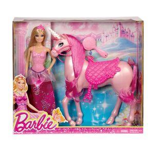 Giocattolo Barbie Princess con Unicorno Mattel 0