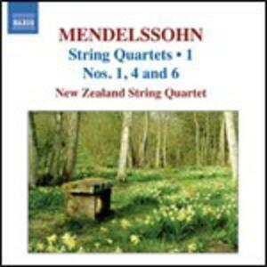Quartetti per archi vol.1 - CD Audio di Felix Mendelssohn-Bartholdy,New Zealand String Quartet