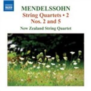 Quartetti per archi vol.2 - CD Audio di Felix Mendelssohn-Bartholdy,New Zealand String Quartet