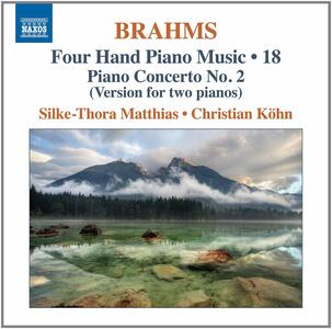 Opere per pianoforte a 4 mani - CD Audio di Johannes Brahms