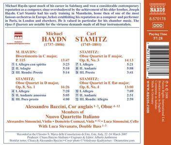 Quartetti per Oboe Op.8 n.1,3 e 4 - CD Audio di Carl Stamitz - 2