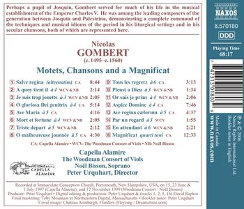 Motets and Chansons - CD Audio di Nicolas Gombert - 2