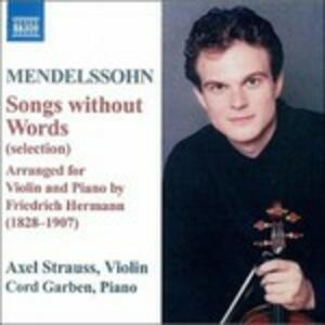 Songs Without Words Arr. - CD Audio di Felix Mendelssohn-Bartholdy