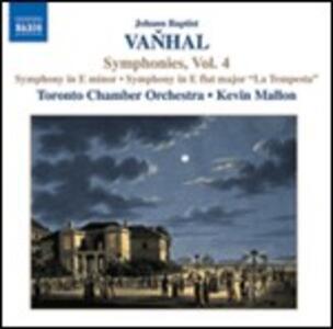 Sinfonie vol.4 - CD Audio di Johann Baptist Vanhal,Kevin Mallon,Toronto Chamber Orchestra