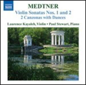 Sonate per violino - 2 Canzoni con danze - CD Audio di Nikolaj Karlovic Medtner