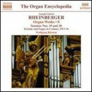 Musica per organo vol.8 - CD Audio di Wolfgang Rübsam,Joseph Gabriel Rheinberger