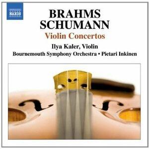 Concerti per violino - CD Audio di Johannes Brahms,Robert Schumann,Bournemouth Symphony Orchestra,Ilya Kaler,Pietari Inkinen