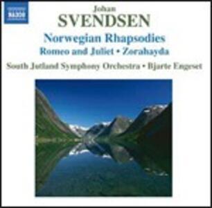 Raspodie norvegesi n.1, n.2, n.3, n.4 - Romeo e Giulietta - Zorahayda - CD Audio di Johan Severin Svendsen