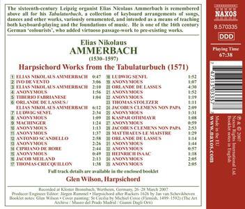 Harpsichord Words from the Tabulaturbuch - CD Audio di Elias Nikolaus Ammerbach - 2
