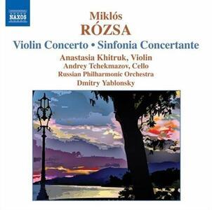Concerto per violino - Sinfonia concertante - CD Audio di Russian Philharmonic Orchestra,Dmitri Yablonsky,Miklos Rozsa