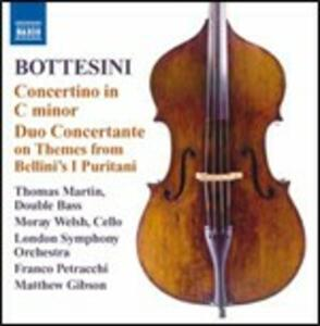Concertino per contrabbasso in Do minore - Duo concertante - CD Audio di Giovanni Bottesini