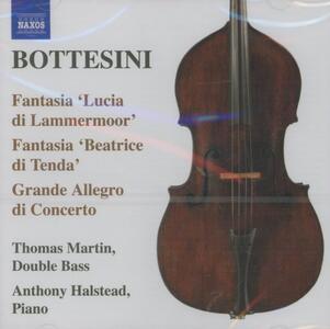 Fantasia sulla Lucia di Lammeromoor - Elegie n.1, n.2 - CD Audio di Giovanni Bottesini