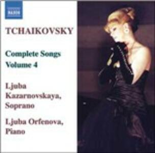 Lieder vol.4 - CD Audio di Pyotr Il'yich Tchaikovsky