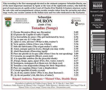 Tonadas - CD Audio di Sebastian Duron - 2